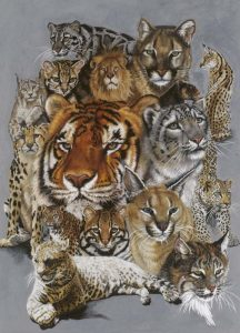 Big Cats Art - Noble Heritage by Barbara Keith