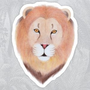 Stickers with Lion Face