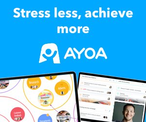 Ayoa Banner Stress less, achieve more